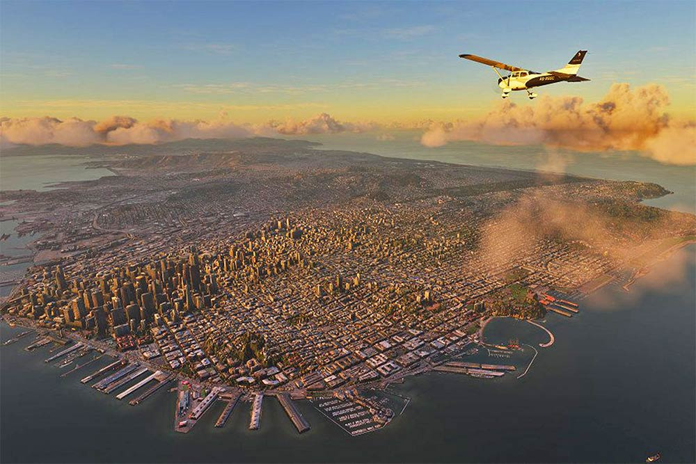 A city in Flight Simulator 2020